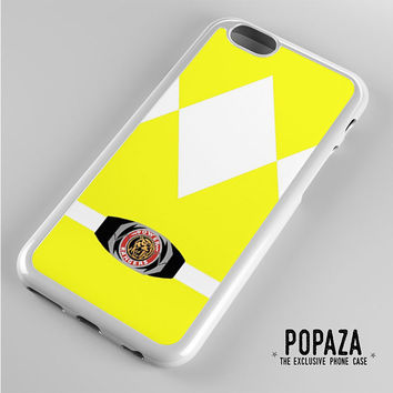 Yellow power Ranger iPhone 6 Case Cover