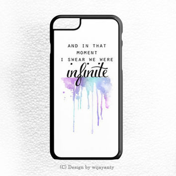AND IN THAT MOMENT I SWEAR WE WERE INFINITE THE PERKS OF BEING A WALLFLOWER iPhone 6S Case Wijayanty.com