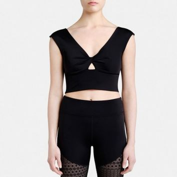 CARLOTTA CROP TOP WITH KEYHOLE