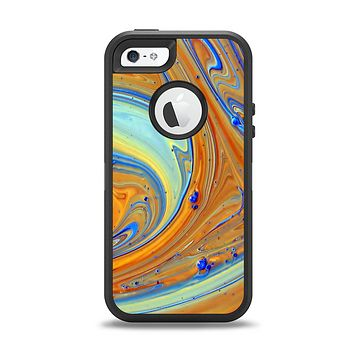 The Colorful Wet Paint Mixture Apple iPhone 5-5s Otterbox Defender Case Skin Set