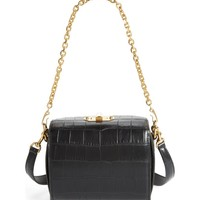 Alexander McQueen Box Bag 19 Croc Embossed Leather Bag | Nordstrom
