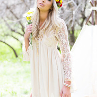 Hello Friday Lace Tunic Beige