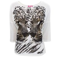 MIRRORED TIGER GRAPHIC TOP