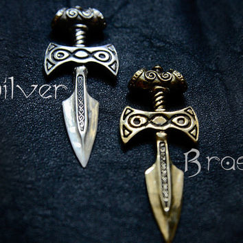Christmas Sale - 30% OFF! Sterling Silver Amulet of Talos Handmade : Elder Scrolls Inspired Skyrim Necklace