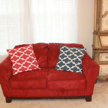 Red Geometric Pillow Cover 14x14 16x16 18x18 24x24