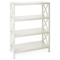 Norton Bookshelf, Antiqued White, Bookcases & Bookshelves