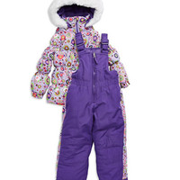 Hawke & Co Girls 2-6x Two Piece Snow Suit