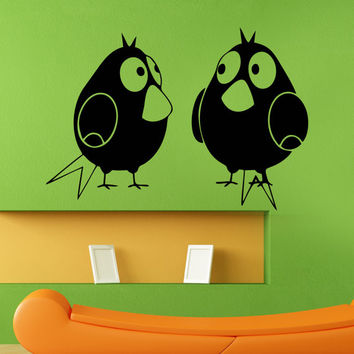 Wall Decal Vinyl Sticker Art Decor Wire bird beak cartoon kids children funny Design Mural Living Room Bedroom Modern Gift (i98)