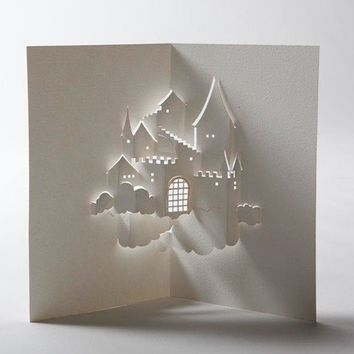 Castle in the Sky Pop Up Card by jackiehuang on Etsy