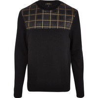Black Royal Vintage Parquet Sweatshirt