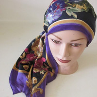 Vintage neck Scarf Head Wrap headband art deco Oscar de la Renta