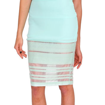 Za Za Zoo Skirt - Mint