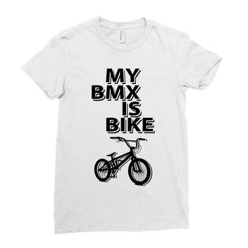 my bmx İs bike Ladies Fitted T-Shirt