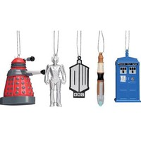 Kurt Adler Doctor Who 5 Piece Ornament Set