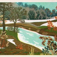 November - Time of Year (Artist L. Prisekina) Vintage Postcard - Printed in the USSR, «Fine Art», Moscow, 1973
