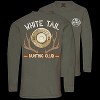 Couture Priority White Tail Hunting Club Comfort Colors Unisex Long Sleeve T-Shirt