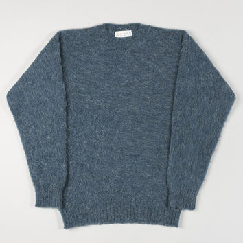 Shetland Woollen Co Crewneck Jumper Atlantic