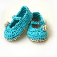 PDF pattern Crochet Baby Booties N.102 by Beatifico - Craftsy