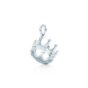 Tiffany & Co. - Crown charm in sterling silver.