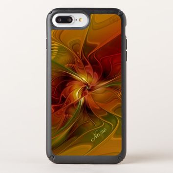 Abstract Red Orange Brown Green Fractal Art Name Speck iPhone Case