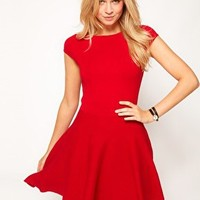 Oasis Fit & Flare Knit Dress at asos.com