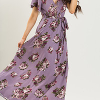 Bethany Purple Floral Maxi Dress