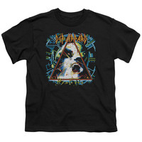DEF LEPPARD/HYSTERIA-S/S YOUTH 18/1-BLACK-MD