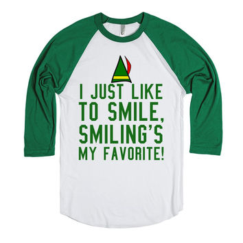 I Just Like To Smile, Smiling's My Favorite Elf T-Shirt