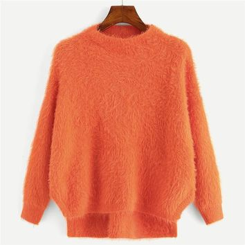 Orange Fuzzy Sweater