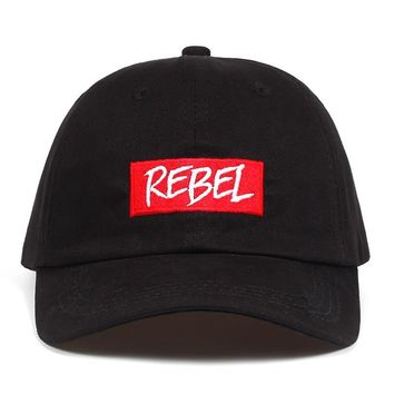Trendy Winter Jacket REBEL Fashion summer snapback hat baseball cap letter embroidery REBEL Dad Hat for men women gorra Casquette cap  AT_92_12