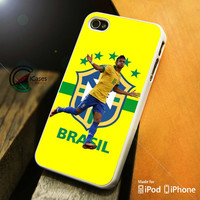 Brazil Neymar iPhone 4 5 5c 6 Plus Case, Samsung Galaxy S3 S4 S5 Note 3 4 Case, iPod 4 5 Case, HtC One M7 M8 and Nexus Case