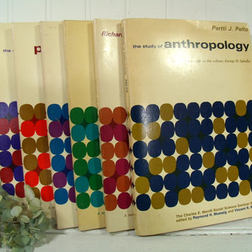 Social Science Seminar Series of 6 Books - Anthropology, Political Science, Geography, Sociology, History, Economics - Mid Century Graphics