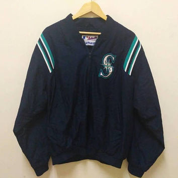 Majestic Authentic Collection sweater Big Logo Embroidery Sports wear Baseball Half zip up vintage
