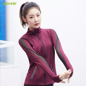 Women Sport Shirt  Quick Dry Running Tops Long Sleeve Sport Shirts with