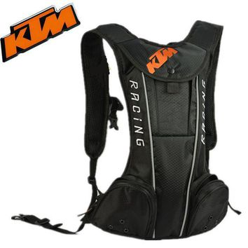 CREY8UH Backpack - KTM Style - Motorcycle / Motocross Racing / Cycling