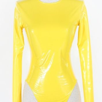 Latex long sleeve bodysuit