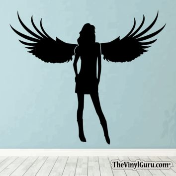 Sexy Angel Pin-Up Girl Wall Decal #00016