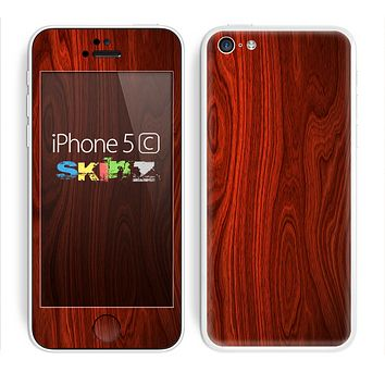 The Rich Red Wood grain Skin for the Apple iPhone 5c