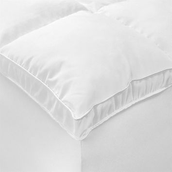 Queen Size Mattress Topper Fiber-Bed in Hypoallergenic Microfiber