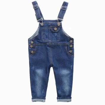 new Denim Overalls Girls Jumpsuit size 346t