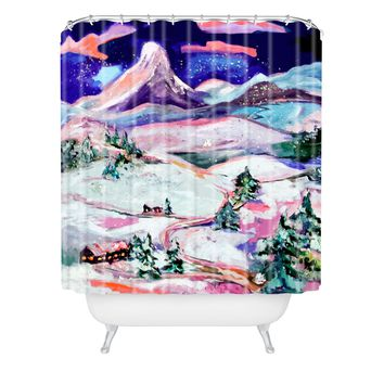 Ginette Fine Art Winter Wonderland Shower Curtain