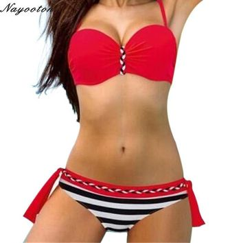 Women swimwear candy color Bikini Set