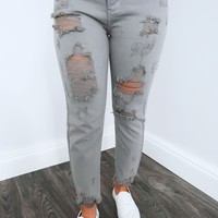 Rugged Route Jeans: Grey