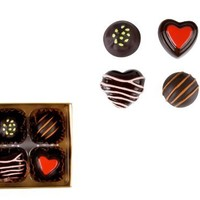 Present Time Wanted Magnetic Forever Chocolates, Set of 4