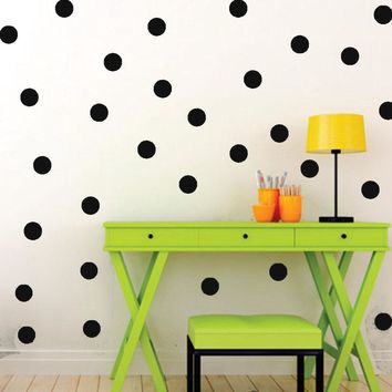 Removable Charm 4CM Polka Dots Round Circle Art Mural Wall Stickers Window Decal