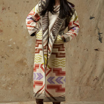 Reversible Long Coat, Santa Fe Saxony, Pendleton® Jacket