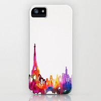 Paris In Watercolor iPhone Case by Talula Christian  | Society6