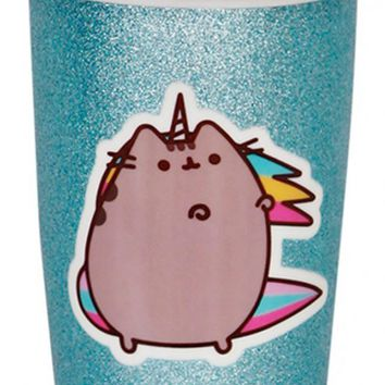 Pusheen Ceramic | TRAVEL MUG GLITTER AQUA
