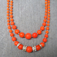 Vintage Tangerine Necklace