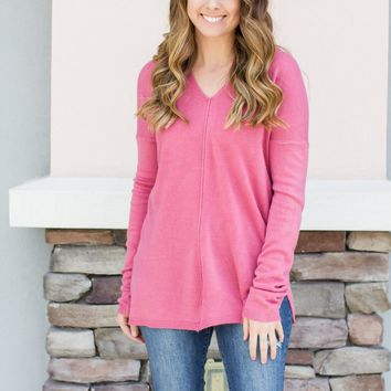 Get To It Sweater - Pink